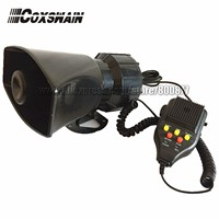 JQD-100 100W 12V Motorcycle and Automobile Siren 3 Tones with sound Recording Speaker Alarm Amplifier (Siren + Speaker)