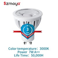 3 pcs PACK GU10 LED Light Bulbs 24 Degree Dimmable ,Aluminum material, 75W Halogen Bulbs , 7W, 630lm, Warm White 3000K,