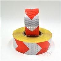 5cmx5m Shining Reflective Warning Self-Adhesive Stikcer with Red White Color Arrow Printing for Car