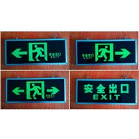 Night Dark Fluorescent Corridor Fire Safety Signs Channel Security Traffic Sign