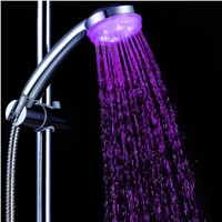 New Colorful Head Home Bathroom 7 Colors Changing LED Shower Faucet Water Glow Light