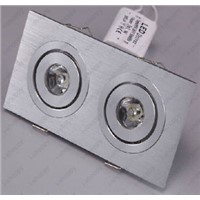 2W 2X1W High Power LED Ceiling Down Light Fixture Grid Lamp Square Hotel Office