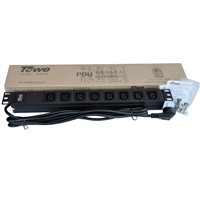 "TOWE EN10/I818S 10A 8 WAYS IEC320 C13 WITH SPD PDUs 19"" Cabinet socket  Power distribution Units"