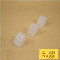 100pcs/lot Transparent Thick Plastic Nylon PVC Furniture Cabinet Corner Bracket Board Holder with 2 holes