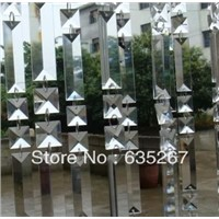 100pcs/lot,22x63mm crystal trangle pendant with 2 hole,transparent color,crystal chandelier parts&pedants of crystal chandelier