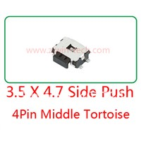 10pcs Momentary Tactile Tact Push Button Switch Phone Side Push Switch 4.7 x 3.5 x 1.67mm 4 Pin SMD