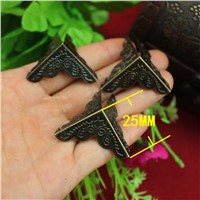 25MM Antique Hardware bag packing angle iron angle trumpet flower gift box four corners corners wrap angle Wholesale