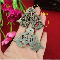 50Pcs 45mm Antique wrap angle fillet edges corner of the carton alloy decorative corner alloy butterfly wooden corner fillet