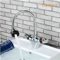 bathroom solar heater thermostatic basin mixer copper thermostatic basin faucet cold and hot water wash basin (QH0207A)
