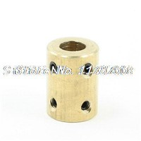 6mm to 8mm Bore Rigid Copper Motor Coupling Coupler Joint w Tight Screws