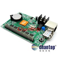 HD-E64(HD-E42) network / ethernet Port 1024*256 pixels support single&Dual color Display module Asynchronous led Control Card