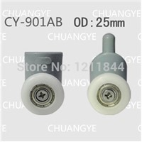 rollers for shower OD :25mm doors wheel pulley up roller+down roller