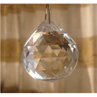 10Pcs/Lot, Transparent 20mm Crystal Chandelier balls sun catcher prism Chandelier Pendant Parts.