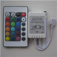 3pcs DC12V 24 Keys IR Remote Controller for LED strip 3528 5050 RGB lights Mini Controller