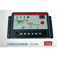 PWM 30A Solar Panel Power Battery Charge Controller Regulator 12V 24V 30 Amp