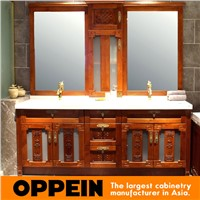 Traditonal Chinese Style Design Solid Wood Bathroom Furniture OP15-053A