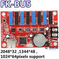 FK-BU5 USB / U-disk port led control card wireless LED board sign controller card 2048*32pixels for scrolling message display