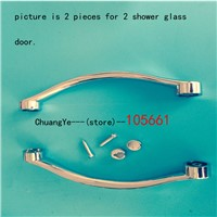 Shower Door Handles | 140 (14.0m) Hole to Hole sliding shower door handles