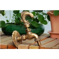Decorative outdoor faucet rural animal shape garden Bibcock with antique bronze Fish tap for Garden washing