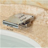 Modern Design Chrome Finish Deck Mounted Bathtub Replace Waterfall Spout