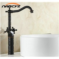 "15"" Retro Blackened Kitchen Swivel Brass Designer Faucets Faucet Sink Basin Mixer Tap B3214"