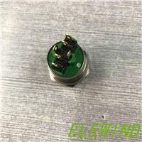 ELEWIND 22mm stainless steel illuminated power symbol push button switch(PM221F-11ET/B/12V/S)