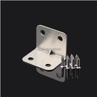 100pcs 27*27*35mm stainless steel angle Corner bracket L shape frame board shelf support+self-tapping screws furniture accessory