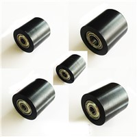 PU Coated Plastic bearing Roller Guide Pulley Bearing wheel Pinch Roller For Door instrument Toy Roller skates , 5mm*30mm*30mm