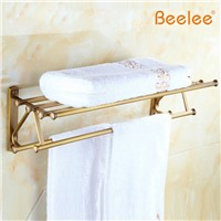 Beelee BL0102A Copper Antique Bathroom Accessories Bathroom Towel Rack Towel Rack Bathroom Hardware Retro Shelf With Coat Hook