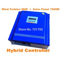 Rated Battery Voltage120V240V Wind Turbine5KW+PV Model 1500W Hybrid Controller With Communication Wind-solar Hybrid Power System