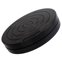 7-Inch Black Round Plastic Rotary Plate Turnplate Clay Pottery Sculpture Tool