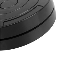 Black 4.5 Inch Round Plastic Rotary Plate Turnplate 360 Degree Rotating Clay Pottery Sculpture Tool