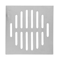 Useful Home Bathroom Supplies Silver Tone Square Stainless Steel Floor Drain Cover