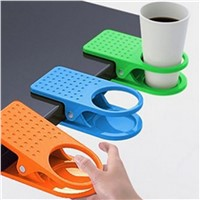 Hot Sale Plastic cup clip Drink Cup Coffee Holder Clip Desk Table Home Office Use Candy Colors