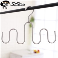 Stainless steel display Silk scarves bag hook wig hanger bag holder Hat Belt Towel Rack Storage Rack