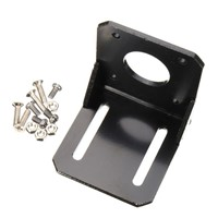 CNIM Hot Alloy Steel Mounting bracket for 42mm NEMA 17 stepper motor with Screws Black