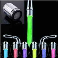 LED Water Faucet Stream Light 7 Colors Changing Glow Shower Tap Head Kitchen Pressure Sensor Kitchen Accessory
