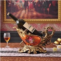 Wedding gifts European - style leaves wine rack wine cooler hotel cafe decoration Decoration creative resin new