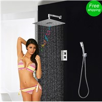 Shower Set Concealed 3 Functions Thermostatic Mixer Shower Bath FM Radio Bluetooth Shower Head Rainfall Hand Shower System