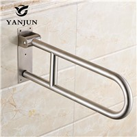 YANJUN Stainless Steel Folding Grab Bar Disability Grab Rail Support Handle Bar Bathroom Railing Safety Aid YJ-2012
