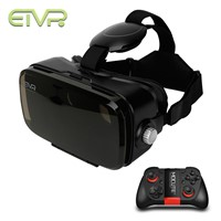 2017 ETVR Immersive Virtual Reality 3D Glasses Google Cardboard VR Box Headset 120 Degrees FOV + Bluetooth Gamepad Controller