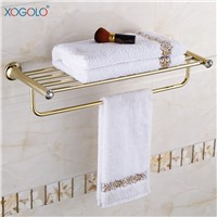 Xogolo Stainless Steel Towel Rack Accessories Fashion Gold Bath Towel Hanger New Arrival Crystal Mosaic Towel Holder