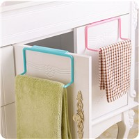 1PC Plastic Over Door Tea Towel Holder Rack Rail Cupboard Hanger Bar Hook Bathroom Kitchen White/Blue/Pink/Green
