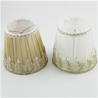 DIA 13.5cm/ 5.31 inch Gauze Fabric Mini Lamp Shades,Brown Color/White Color,Clip On