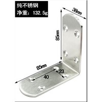 small mid big Stainless steel Fixed furniture Corner Brackets 90 degrees Connection accessories angle iron thickness:3mm