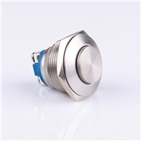 22mm metal button switch waterproof reset high flat convex head screw foot silver contact G