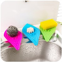 1pcs Anti-slip Kitchen Organizer Drain Sink Cleaning Sponge Soap Box Rack Shelf Storage Drainer Bathroom Shelves Storage Rack