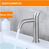 Wholesale And Retail 304 Stainless Steel Finished Deck Bathroom Basin Sink Faucet Vanity Vessel Sinks Mixer Tap Cold Water Tap