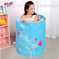 Water beauty folding tub bath bucket adult bathtub inflatable bathtub thickening plastic bathtub bath bucket