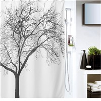 180*180cm   WaterProof Bath Curtain Square Pattern Home curtains Bathroom Shower Curtain  Fabric shower curtain Elegant Scenery